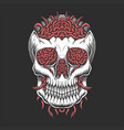 skull head worm vector image