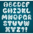 snowflakes alphabet vector image