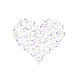 sperm in the shape of heart vector image vector image