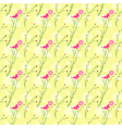 Springtime Colorful Cosmos Flower Seamless Pattern vector image vector image