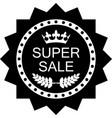 super sale icon vector image vector image