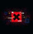 tech futuristic red cross symbols no indicator vector image vector image