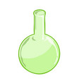 test tube isolated vector image