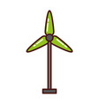 turbine wind energy icon vector image vector image