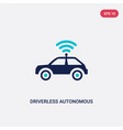 two color driverless autonomous car icon from vector image