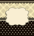 vintage frame with a textile pattern vector image
