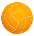 volleyball orange on a white background large vector image vector image
