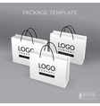White realistic paper bag template vector image vector image