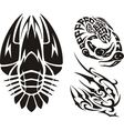 Zodiac Signs - cancer Vinyl-ready set vector image vector image