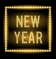 new year lamp light title vector image