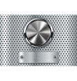 Metal button with steel plate vector image