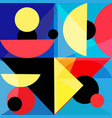 abstract bright geometric background various vector image