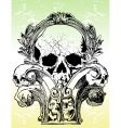 ancient grunge skull vector image vector image