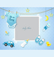 bashower set invitation template with place fo vector image