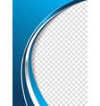blue abstract business background vector image