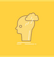 brainstorm creative head idea thinking flat line vector image