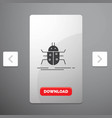 bug bugs insect testing virus glyph icon in vector image