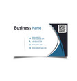 business card abstract blue curve white background vector image vector image