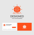 business logo template for business global vector image vector image