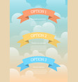 cartoon banners infographic vector image