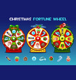 cartoon three christmas roulette options holiday vector image vector image