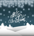 Christmas background with Christmas trees and snow vector image vector image