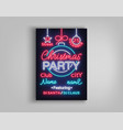 christmas party template brochure vector image vector image