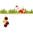 christmas pine frame2013 09 23 vector image vector image