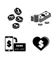 cryptocurrency simple related icons vector image vector image