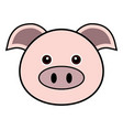 cute pig cute animal faces vector image vector image