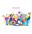 dance crowd party people vector image