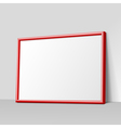 dark gray horizontal frame for paintings vector image vector image