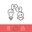 dating messenger icons love messaging dialogue vector image vector image