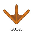 design goose and track sign set of vector image