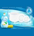 dishwashing liquid product 3d vector image vector image