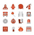 Fire Department Flat Icons Set vector image