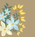 floral jasmine decoration leaves image vector image vector image