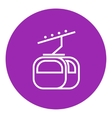 Funicular line icon vector image vector image