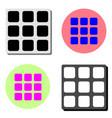 geometric cube flat icon vector image vector image