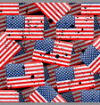 grunge seamless pattern with american flag vector image vector image