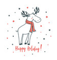 happy holiday cartoon vector image