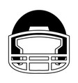 helmet football equipment sport image vector image vector image