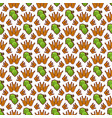 hop and wreath pattern design beer harvest vector image