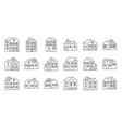 house or cottage in winter themeflat design vector image vector image
