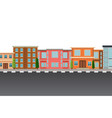 isolated flat urban template vector image vector image