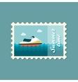 Jet Ski flat stamp vector image vector image