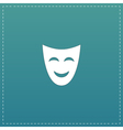 joyful mask flat icon vector image