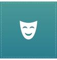 joyful mask flat icon vector image