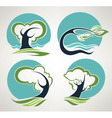 landscape symbols in folklore style vector image vector image