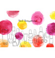 layout with nail polish accessories vector image